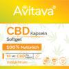 CBD Softgel Kapseln 50 Stück a 10 mg CBD vegan und GMO frei